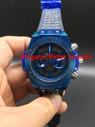 Wholesale Power King - Blue plating King Power Unico watches Italia Independent full functions Chronograph quartz wristwatches luxury stopwatch free shipping
