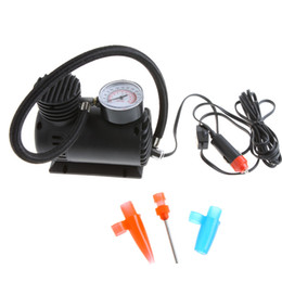 Wholesale inflator air compressor - Portable Car Auto DC 12V Electric Air Compressor Tire Inflator 300PSI 20.7 BAR 2069 KPA Automobile Emergency Air Pump
