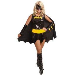 Wholesale Superwomen Halloween Costumes - High Quality Sexy Woman Halloween Costume Superwomen Superhero Wholesale Price Hot Sale Sexy Women Batgirl Halloween Cosplay Costume W208802