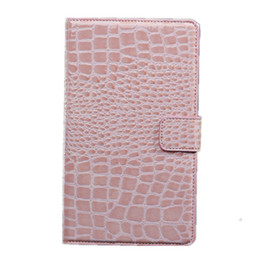 Wholesale google tablet cases - For Google nexus7-2 Luxury Crocodile Grain Cover Tablet Cover Card Slot Flip PU Leather With Buckle Cover Case Shockproof With OPPBAG