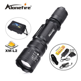 Wholesale Waterproof Tactical Flashlights - TK104 1set zoomable Tactical Gun Flashlight Pistol Handgun Torch CREE L2 LED 2200LM light Lamp Taschenlampe Waterproof led flashlight