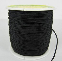 Wholesale Black Nylon String Cord - Black Factory Price 1.5mm nylonguyj 160M 175yards lot Chinese OP,E Knot String Nylon Cord Rope for Shamballa Bracelet jewelry DIY