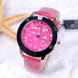 Wholesale Austrian Crystal Leather - 8 Colors New Arrival Hongkong Brand Women Rhinestone Watches Austrian Crystal Ceramic Leather Band Women Dress Watches Drop Ship