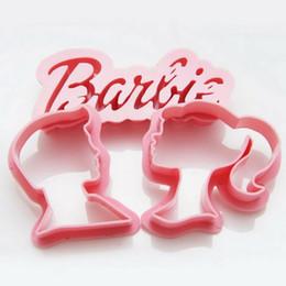 Wholesale Pie Designs - Wholesale- Creative Baking Design Barbie Princess Prince Plastic Pie Cutters Suit Cartoon Children's Love