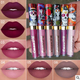 Wholesale Lipstick Colours - Super Sexy Skull Colour Lipstick Long Lasting Waterproof Liquid Velvet Lip gloss Liquid Lipstick Velvet Matte Lipgloss