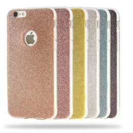 Wholesale Cute Pink Crystals - For iPhone 8 Cases Ultra Thin Glitter Bling Cute Candy Cover Crystal Soft Gel TPU Phone Case For iPhone 8 7 6 6S Plus 5 5S Free Ship
