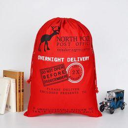 2019 vente en gros de crayons noirs Sacs de courrier de Noël colorés avec sac de toile de Noël en renne avec sac-cadeau avec cordon de cachet postal, liste de Noël incontournable cette année