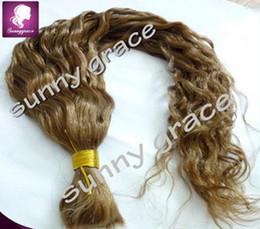 Wholesale Long Human Braiding Hair - body wave Brazilian human hair bulk for braiding unweft hair long wavy bulk hair no weft