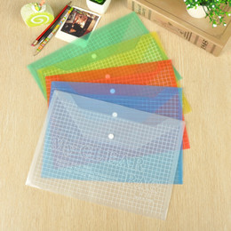 Wholesale Plastic Document File - Plastic Advertising Document File Bag A4 Transparent Stationery Filing Supplies Student File Bag School Office Supplies Pouch Bags