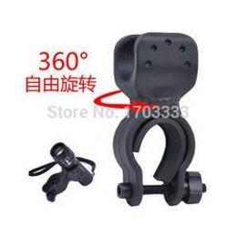 Wholesale Bike Flashlight Clamp Holder - Free shipping 100pcs Swivel Cycling Grip Mount Bike Clamp Bicycle Flashlight LED Torch Light Plastic Holder Clip 22-25mm #KL-87 160318#