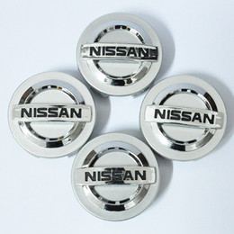 Wholesale Pc Hubs - 4 PCS Chrome for Nissan Wheel Center Hub Caps Hubcap FOR Nissan Aeolus Primera Altima MICRA NOTE QASHQAI 55 58 60mm