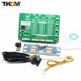 Wholesale TD Generation Laptop LED LCD TV Tester Tool Panel Support quot W DS Interface Lampara Cables amp Inverter Free