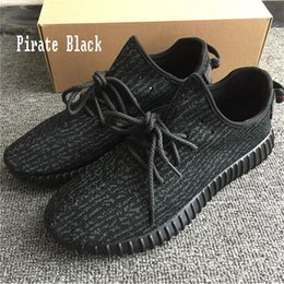 Wholesale Sports Shoe Keychain - Kanye West 350 Boost Sneakers Pirate Black Green Suede Oxford Tan Men Running Sports Shoe Boots (Keychain+Socks+Bag+Receipt+Box)