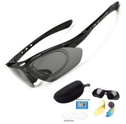 Wholesale Cycling Glasses Myopia - Man Women Polarized Cycling Sports Sun Glasses Bicycle Sunglasses +1 Myopia Frame +3 Lens free shipping