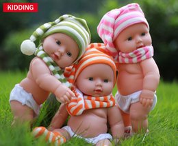 Wholesale Baby Chrismas - 30cm vinyl Chrismas dress up boy baby doll 12inch stripe clothes reborn dolls for Halloween gift