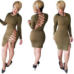 Wholesale Sexy Revealing - Goods In Stock 5239 European Sexy Reveal Back Maxi Dress Night Out Club Bodycon Plus Size Dresses