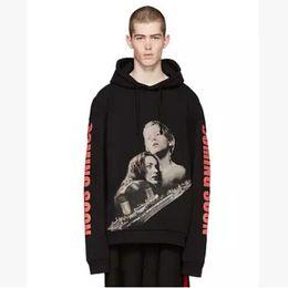 Roupa titânica on-line-OUTONO novo streetwear hiphop kpop roupas urbano marca-roupa Titanic preto oversized hoodie pullovers hoodies hip hop