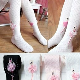 Wholesale Wholesale Black Leggings Designs - Wholesale-2016 New Design 1 Piece 100% Cotton Girls Tights Elegant Ballet Dancing Tights for Girls