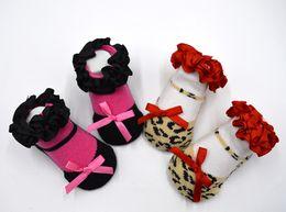 Wholesale Kids Lace Ankle Socks - Kids Socks Girls Boy Cotton Cute Christmas Socks Children's Comfortable High Quality Lace Leopard Pattern Sock