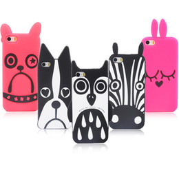 Wholesale 3d Cute Design Case - Marc.Jacobs Cute 3D Cartoon Animal Design Love Dog Zebra Owl Rabbit  Husky cat Soft Silicone For iPhone 5 5s 5G case Phone Cases