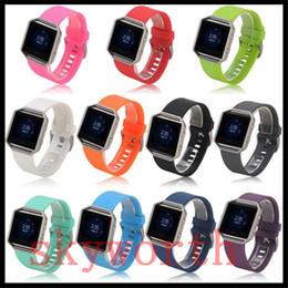 Силиконовый ремешок для часов Высокое качество Замена ремешок на запястье Силиконовый ремешок для Fitbit Blaze Smart Watch Браслет 11 цвет от Поставщики кремниевые браслеты