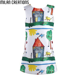 Wholesale Designer Clothes For Kids - Baby Girls Dress Christmas 2015 Brand Princess Dress for Girls Clothes Graffiti Pattern Designer Kids Dresses Children Clothing