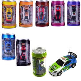 moteur rc nitro Promotion Multicolore Coke Can Mini Vitesse RC Radio Télécommande Micro Voiture De Course Jouet Cadeau 8 Couleurs