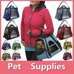 Wholesale OxGord Pet Carrier Soft Sided Cat Dog Comfort Travel Tote Bag Airline Approved With Colors