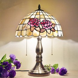 Wholesale Glass Bulb Shell - European Style Retro Handmade Creative Table Lamp Shell Desk Lamp Living Room Bedroom Bedside Decorative Tiffany Lamp