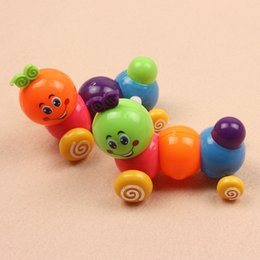 Wholesale Twisting Ass - Factory wholesale twisted ass walk colorful bugs fun on the chain clockwork toys caterpillar
