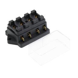 chinese 4 way fuse box dc 12v 24v max dc 32v circuit car trailer auto blade