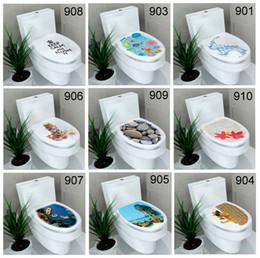 Hayvanlar Çiçekler Çakıl Sualtı Dünyası Tuvalet Sticker Banyo Duvar Çıkartmaları Ev Dekorasyon Duvar Çıkartmaları Karışık 20 Stilleri cheap bathroom film sticker nereden banyo filmi çıkartması tedarikçiler