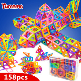 Wholesale Magnetic Toys For Kids Building - TUMAMA Mini 158pcs Magnetic Blocks Toys Construction Model Magnetic Building Blocks Designer Kids Educational Toys For Children