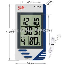 Wholesale Precision Clocks - Multifunction Digital LCD Thermometer KT908 High Precision Temperature Humidity Meter Alarm Clock Temp Portable And Easy To Use