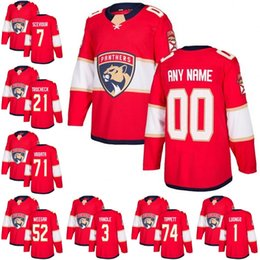 Wholesale Brown Panther - Custom 2018 Florida Panthers 7 Colton Sceviour 21 Vincent Trocheck 52 Mackenzie Weegar 1 Roberto Luongo 71 Radim Vrbata Keith Yandle jerseys