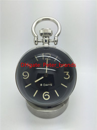 Wholesale Style Table Clock - High quality Mechanical Manual Desk clock luxury style fashion Table clocks stainless steel luiminous night light