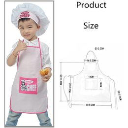 Wholesale Children Cooking Sets - 1 Set Polyester Kids and Chef Hat Child Cooking Baby Junior Chef Cook Apron Painting Apron Family Supplies