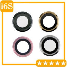 "Wholesale Camera Oem - OEM iPhone 6S 4.7"" iPhone 6S Plus 5.5"" Rear Back Camera Lens Glass Ring Cover Silver Gold Space Grey Replacement Part"