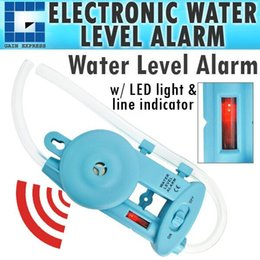 Wholesale E04 Wall mounted Electronic Water Level Alarm with Power Lamp Level line Indicator Groove Fences Decks Cabinets Framing Leveling