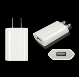 Wholesale Drop Shipping Usb Wall Charger - USB Wall Charger AC Plug Power Adapter mobile phone AC Power Charger 5V 1A Travel Charger mix colors Drop shipping