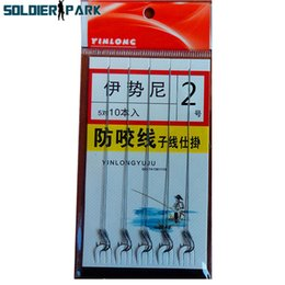 Wholesale leader hooks - 5PCS Bag Fishing Line With Double Hook Tied Together Fishing Tackle Fishing Wire Line Lure Hooks Line Trace Wire Leader Swivel order<$18no t