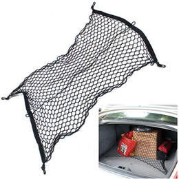 Wholesale Trunk Cargo Net For Cars - 4 Hooks Car Trunk Elastic Cargo Net cars boot luggage mesk net rack storage bag net For Audi Q3 Q5 Q7 A3 A4L A5 A6L Benz Volkswagen ford new