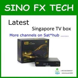 Wholesale Starhub Box - 2016 Newest blackbox starhub box singapore V8 Golden DVB-S2+T2 Cable for EURO 2016 football match better than amiko mini combo qbox 5000hdc