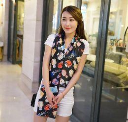 Robe d'animal coréenne en Ligne-Velours Mousseline De Soie Echarpe Bijoux Foulards En Soie Wraps Châle Vente Chaude pour les Femmes Robe Accessoires 2016 Mode Style Coréen