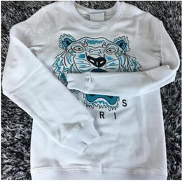 Wholesale Embroidered Sweatshirt Xl - Hot European Brand Tiger Head Embroidered Men Women Sweatshirts Cotton Autumn Winter Unisex Hoodies Casual Streetwear Jogger Tracksuit