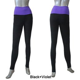 Wholesale Two Colors Tight - Dance Pants Two Tone Microfiber Highwaisted Tight Long Leggings Girls and Ladies Ballet Dancwear Full Sizes 24 Colors