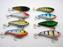 Wholesale Sinking Lures - 2018 Fishing Lure VIB Rattlin Hook freshwater crankbait 6g 5cm 3D Eyes Shallow Sinking Vibra Jerk bait