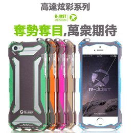 Wholesale Bumper Iphone Original - 2016 Original Fashion Cool R-JUST Gundam Series Metal Frame Aluminum Bumper Case Cover For iphone 6 6s 6plus 6s plus