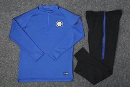 Wholesale Sweater Pant Sets - Top Quality1718 Inters Soccer training suit sweatshirt and pants survetement 1718 Inters Sweater Tracksuit Set Soccer Training Suit