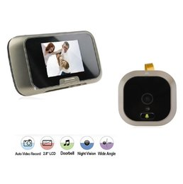 Wholesale Wireless Digital Spy Camera - 2.8inch door eye video peephole camera 0.3 Megapixels camera IR night vision Photos+Video Anti-spy digital peephole Max 32G
